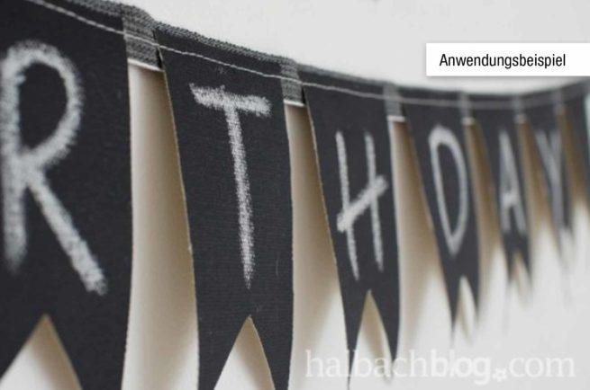 Tafelstoff schwarz
