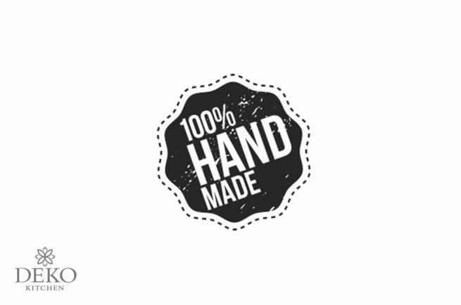 """Holzstempel """"100% handmade"""" 30 mm"""