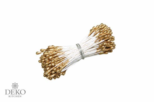 Blütenstempel 144 Stk. gold