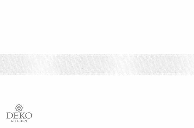 Satinband, 3 mm breit, 10 m auf Rolle, weiss