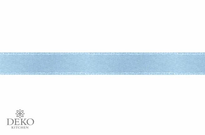 Satinband, 3 mm breit, 10 m auf Rolle, hellblau