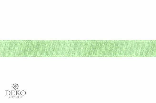Satinband, 3 mm breit, 10 m auf Rolle, hellgrün