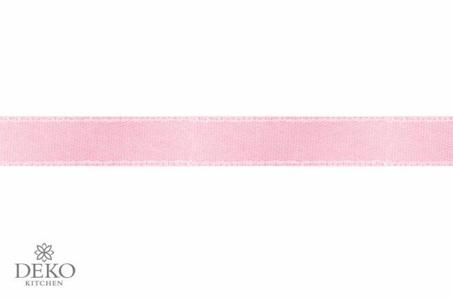 Satinband, 3 mm breit, 10 m auf Rolle, rosé