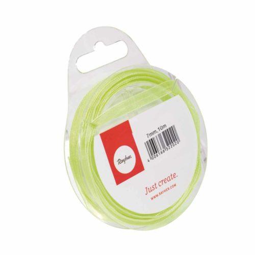 Organzaband 7mm breit, 10m, hellgrün