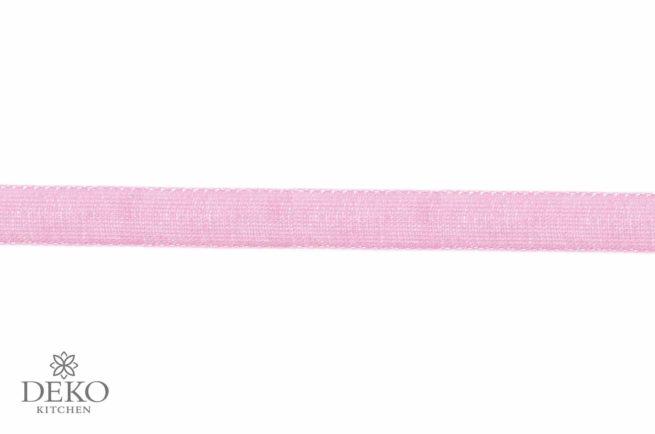 Organzaband 7mm breit, 10m, rosé