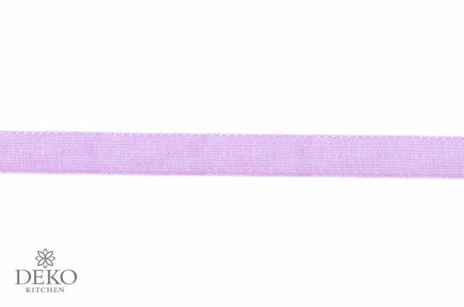 Organzaband 7mm breit, 10m, flieder