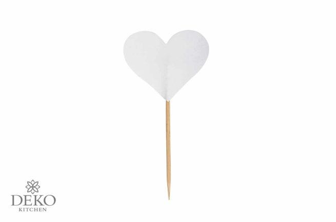 Herzpicker weiß 10 Stück