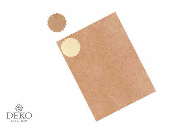Blanko-Aufkleber aus Kraftpapier, rund, 3,5 cm 12 Stk.