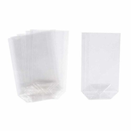 Geschenk-Bodenbeutel transparent 10 Stück
