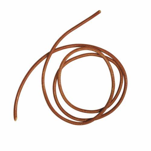 Rundriemen Rindsleder 2 mm mittelbraun