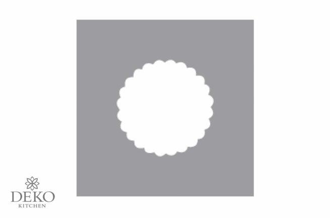 Motivstanzer rund mit Zierrand, 3,81 cm Durchmesser
