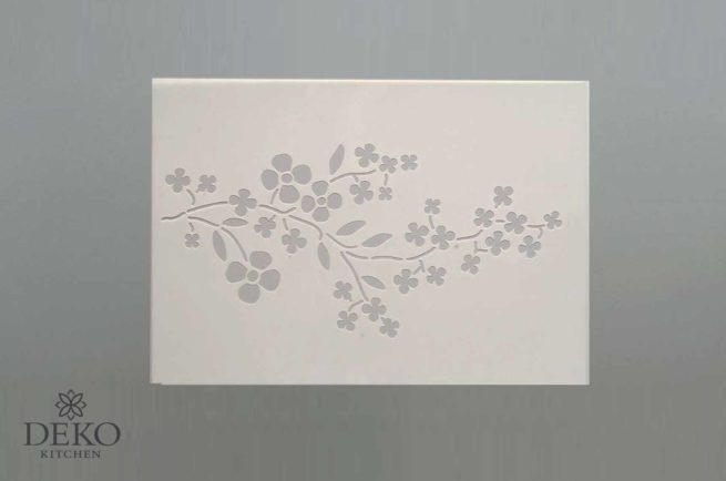 Schablone mit Kirschblütenzweig DIN A4