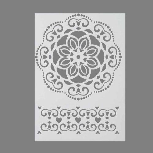 Schablone mit Ornamenten DIN A4