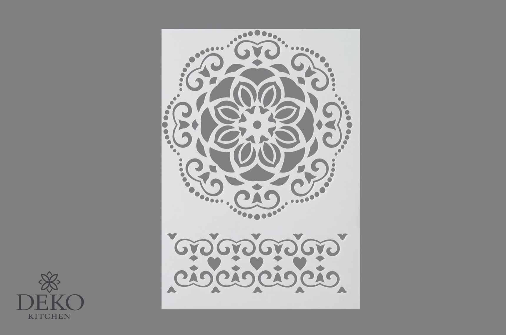 schablone mit ornamenten din a4 | deko kitchen shop
