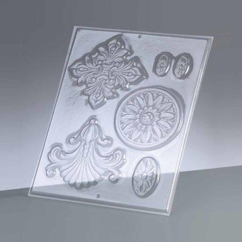 Gießform (Reliefform) für Ornamente, 6-teilig