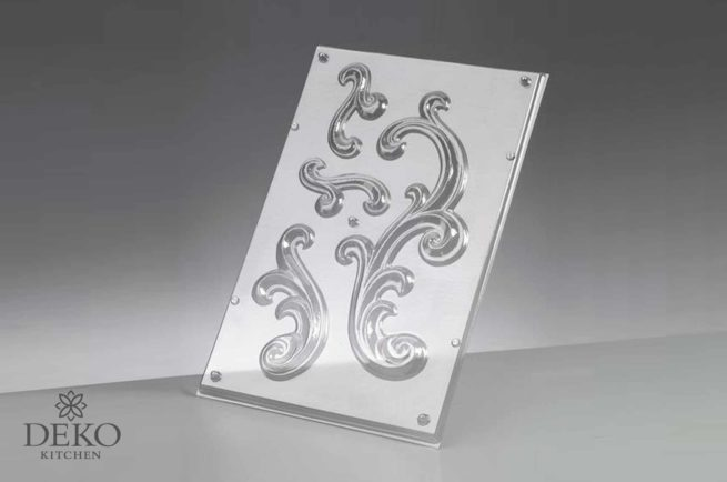 Gießform (Reliefform) für Ornamente, 4-teilig