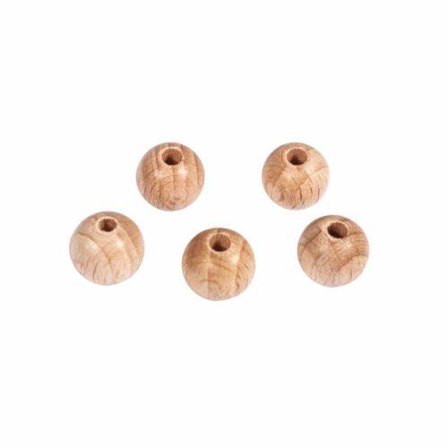 Holzkugel mit Bohrung 10 mm Durchmesser, 35 Stück