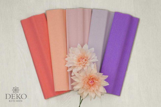 """Krepppapier-Set """"Blütentraum"""" zum Basteln von Blüten mit 10 Rollen in verschiedenen Farben"""