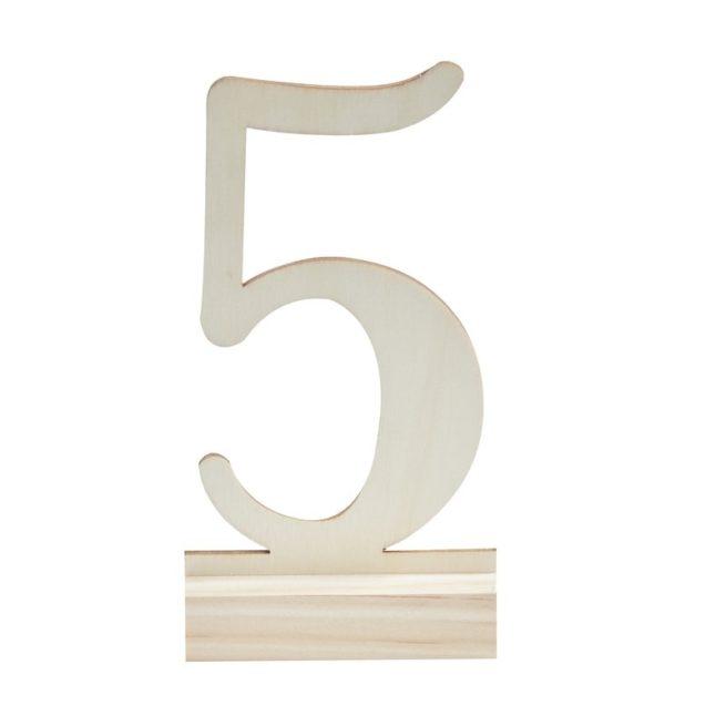 Holz-Tischnummern 1-12