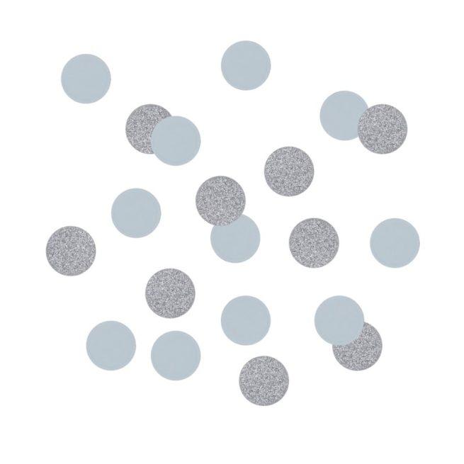Konfetti in pastellblau und silber, 14 g