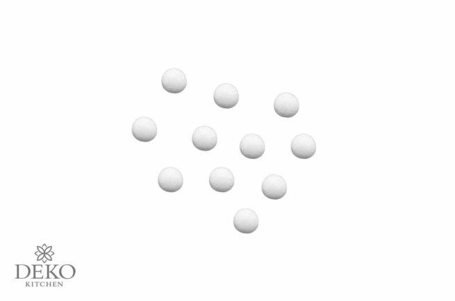 Wattekugeln weiß, 15 mm Durchmesser, 40 Stück