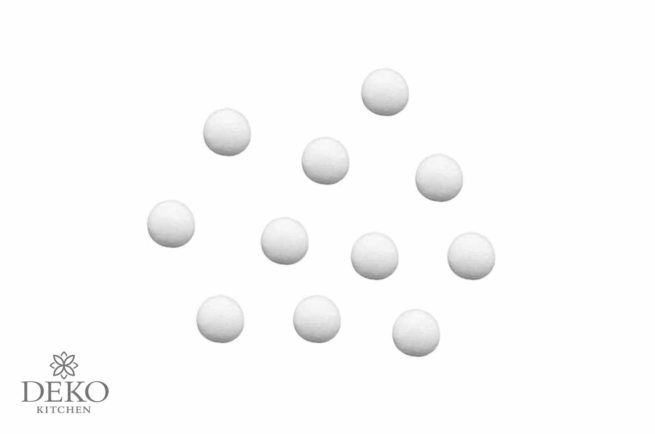 Wattekugeln weiß, 20 mm Durchmesser, 35 Stück