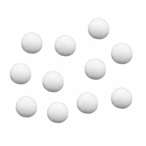 Wattekugeln weiß, 25 mm Durchmesser, 25 Stück