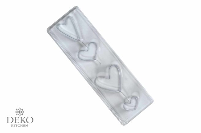 Gießform für Herzen in 4 Größen und Formen