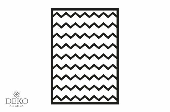 Klebeschablone A5 mit zwei unterschiedlichen Mustern