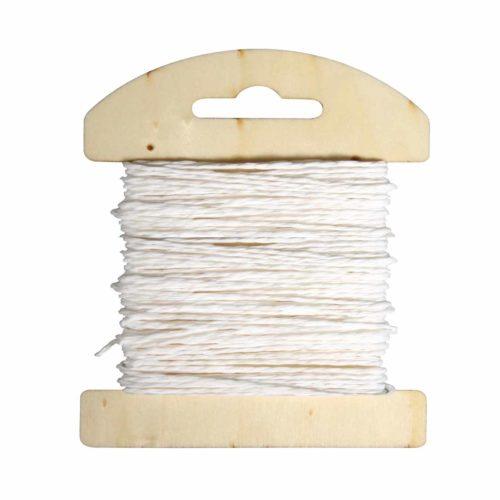 Papierkordel weiß, 1,2 mm Durchmesser, 10m Länge