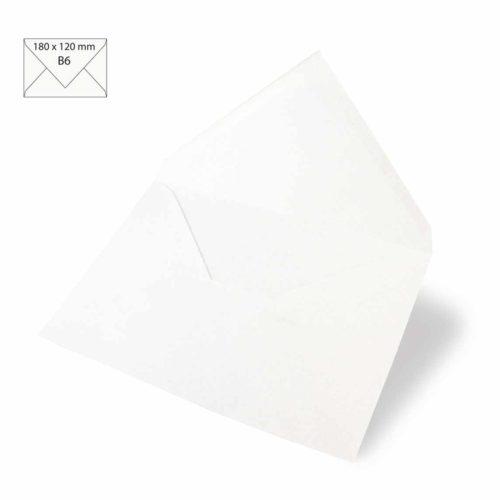 Kuvert B6 weiß, 5 Stk.