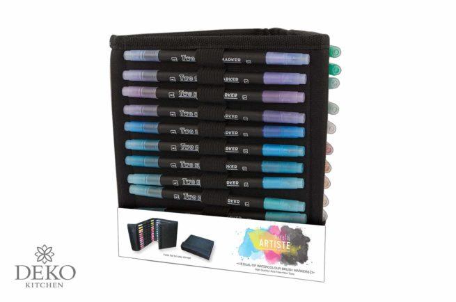 Artiste Aquarellstifte-Set mit zweiseitiger Spitze, 36 Farben