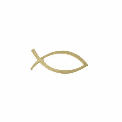 Wachsmotiv christlicher Fisch, 5 x 2 cm, gold
