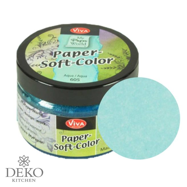 Paper-Soft-Color Stempelfarbe aqua, 75 ml