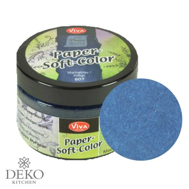 Paper-Soft-Color Stempelfarbe marineblau, 75 ml