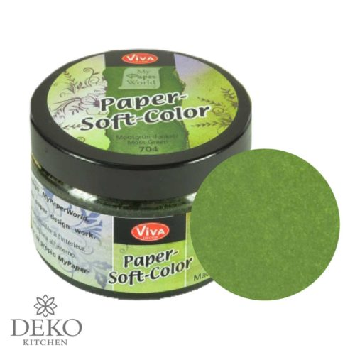 Paper-Soft-Color Stempelfarbe moosgrün, 75 ml