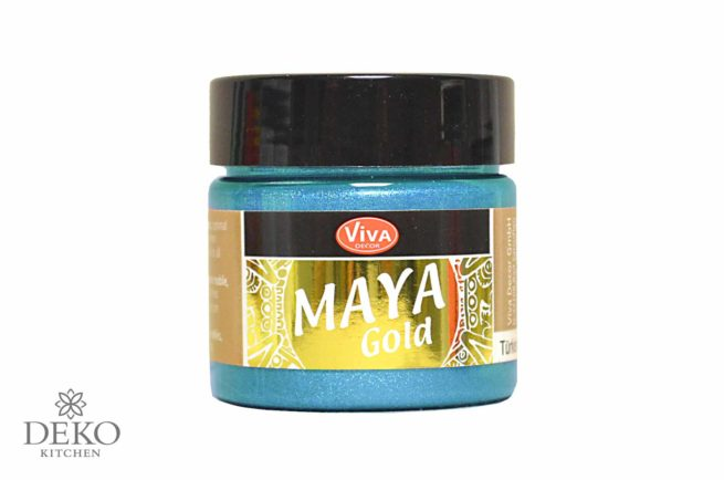 Maya-Gold Metallicfarbe eisblau 45ml