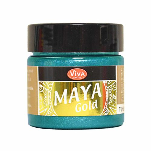Maya-Gold Metallicfarbe türkis 45ml