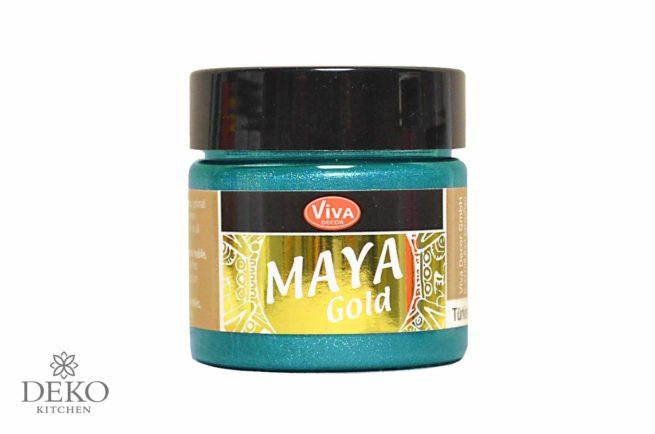 Maya-Gold Metallicfarbe türkis 45ml