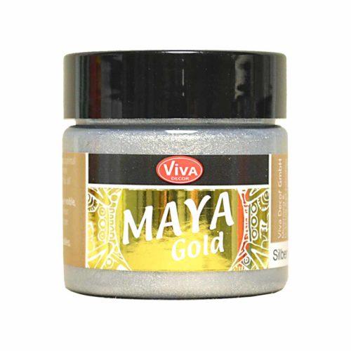 Maya-Gold Metallicfarbe silber 45ml