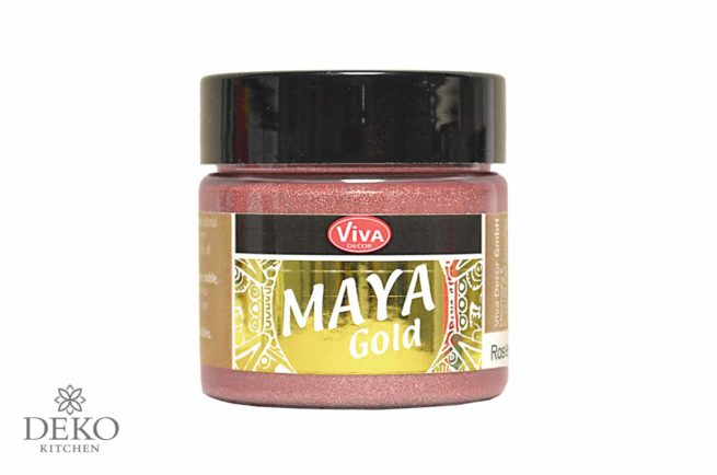 Maya-Gold Metallicfarbe roségold 45ml