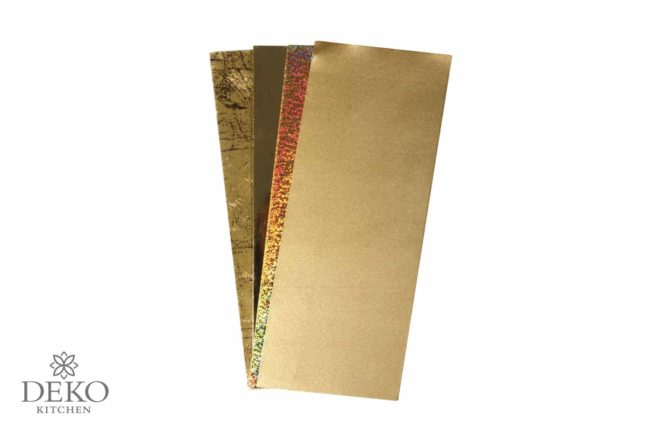 Verzierwachs-Platten in Gold-Tönen, 4 Platten