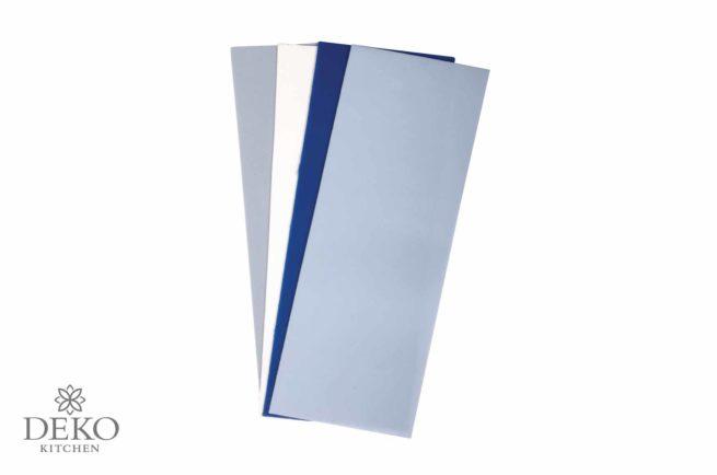 Verzierwachs-Platten in Blau-Tönen, 4 Platten