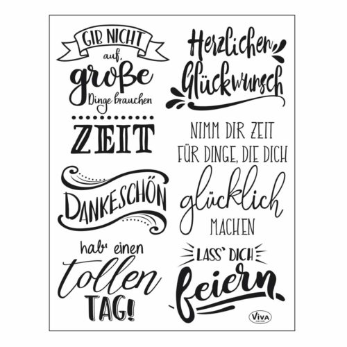 "Silikon-Stempel Set Clear-Stamps ""Lettering Deutsch"" 14 x 18 cm"
