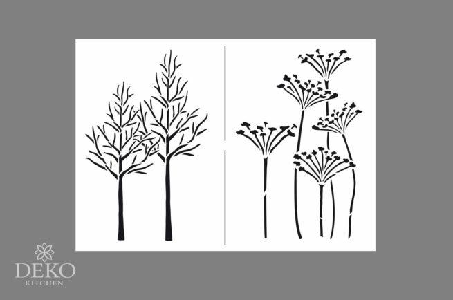 """Universal-Schablone A4 """"Herbst-Impressionen"""", 2 Motive"""