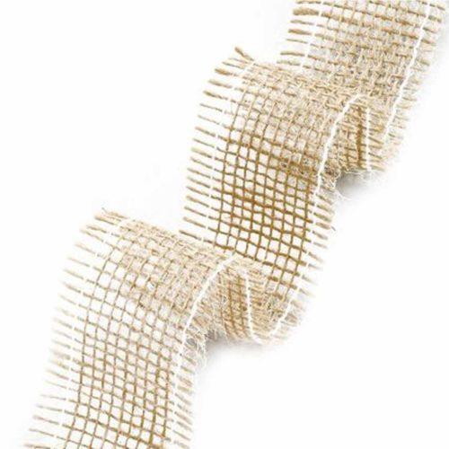 Juteband natur 40 mm breit, 2m lang