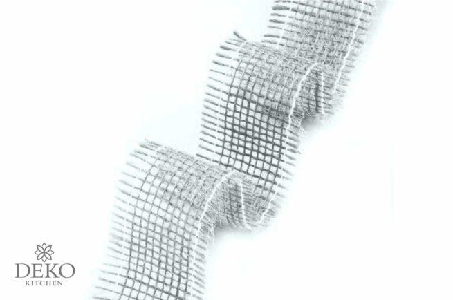 Juteband hellgrau 40 mm breit, 2m lang