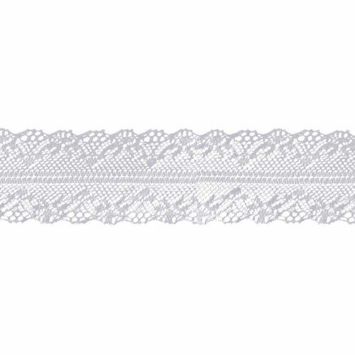 Spitzenband weiß, 40mm breit
