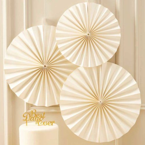 Faltrosetten-Set 3 Stk. in ivory
