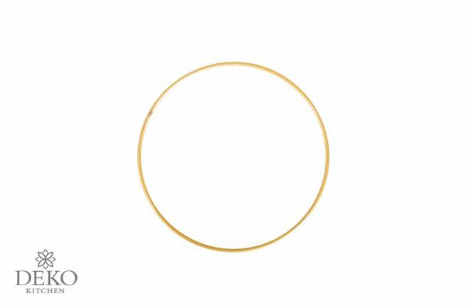 Metallring beschichtet, gold, 15 cm